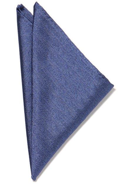 Donkerblauwe pochet met streepjes