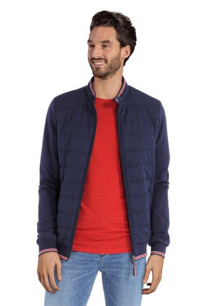 Donkerblauwe sportieve vest