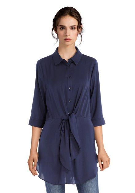 Donkerblauwe tuniek met strik