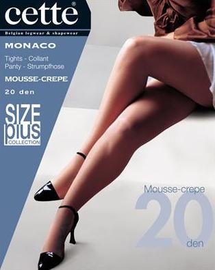 Donkerbruine panty size plus Monaco - 20 den