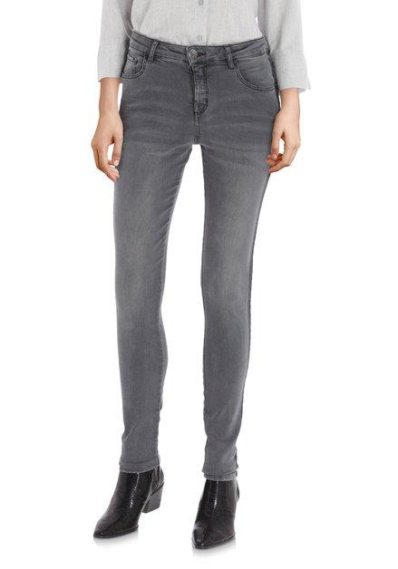Donkergrijze jeans - slim fit