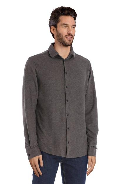 Donkergroen hemd - regular fit