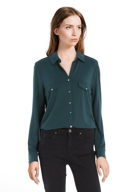 Donkergroene blouse in modal