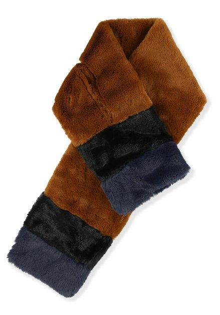 Écharpe brune fausse fourrure