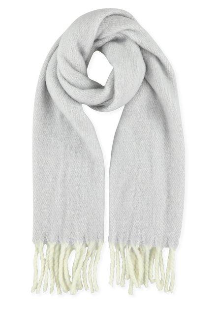 Écharpe douce gris clair