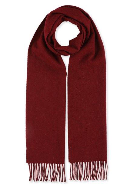 Écharpe en laine bordeaux