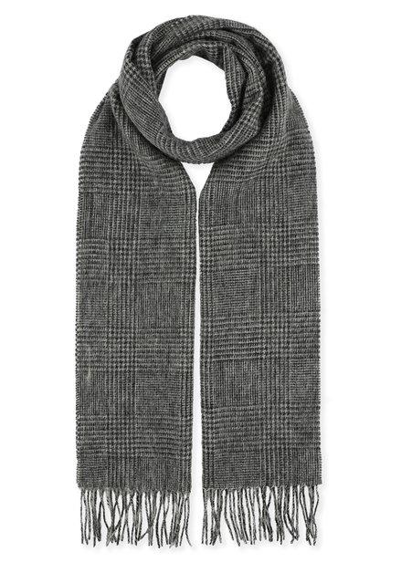 Écharpe grise à carreaux