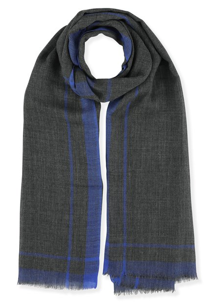 Écharpe légère en laine grise