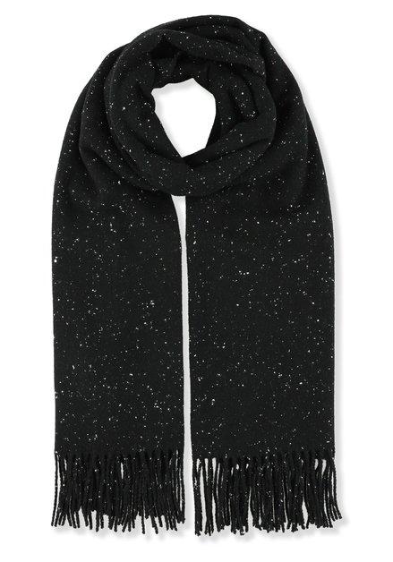 Écharpe noire à pois blancs