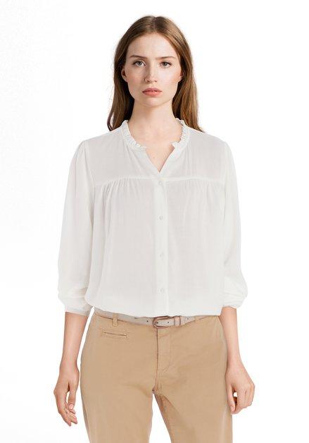 Ecru blouse met smok