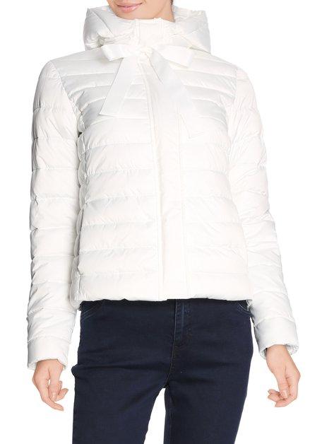 Ecru gematelasseerde jas met kap