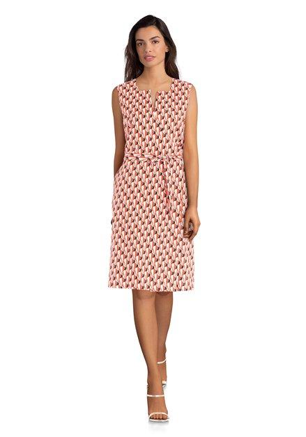 Ecru jurk met abstracte print