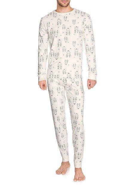 Ecru pyjama met rendieren
