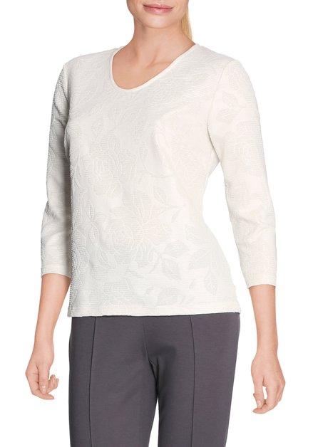 Ecru T-shirt met lurex