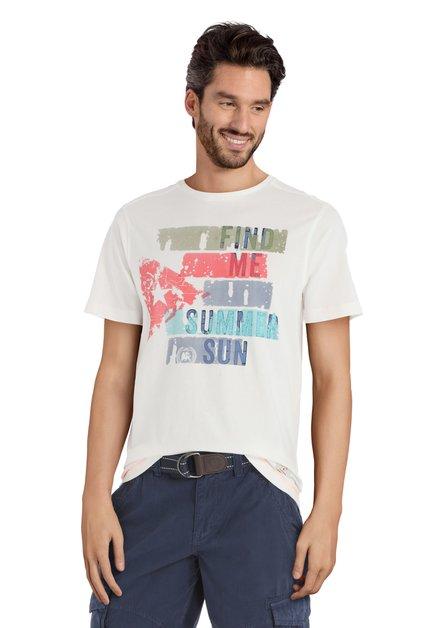 Ecru T-shirt met print