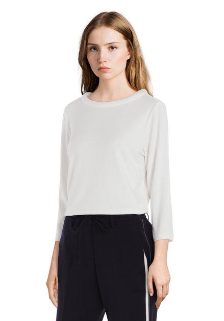 Ecru T-shirt met ronde hals