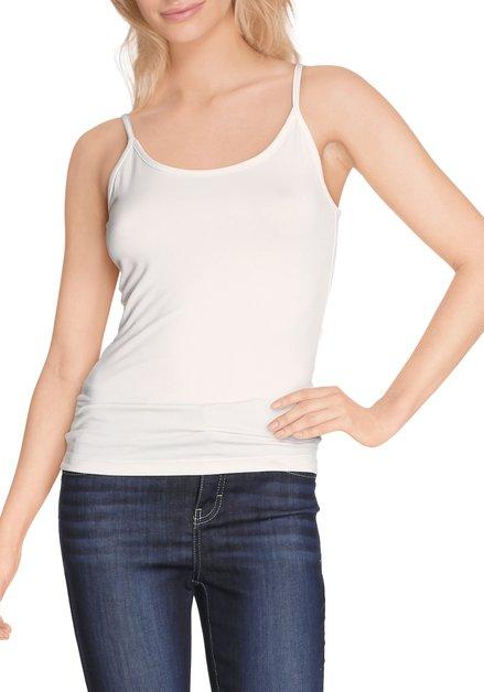 Ecru top met verstelbare schouderbandjes