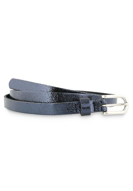 Fine ceinture bleue et métallisée