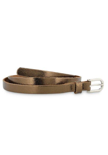 Fine ceinture bronze et métallisée