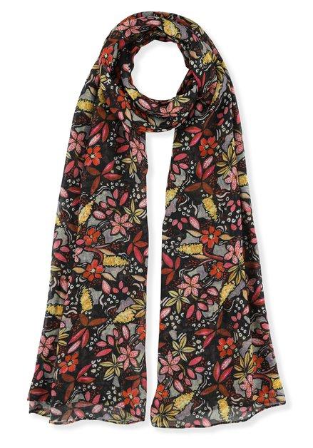 Foulard à fleurs colorées