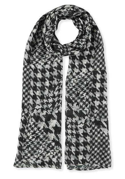 Foulard à motif zwart et blanc
