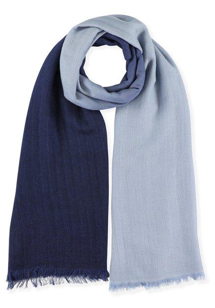 Foulard bleu clair et foncé