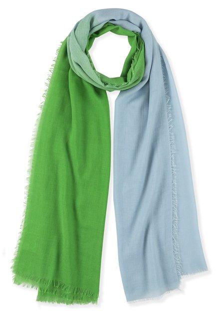 Foulard bleu et vert