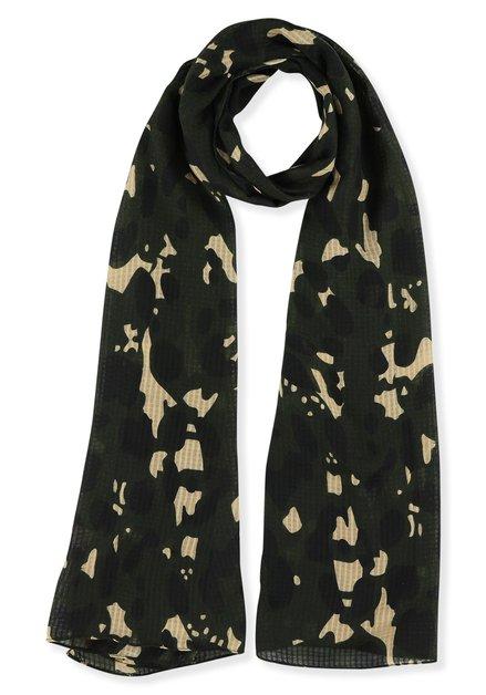 Foulard kaki à motif camouflage