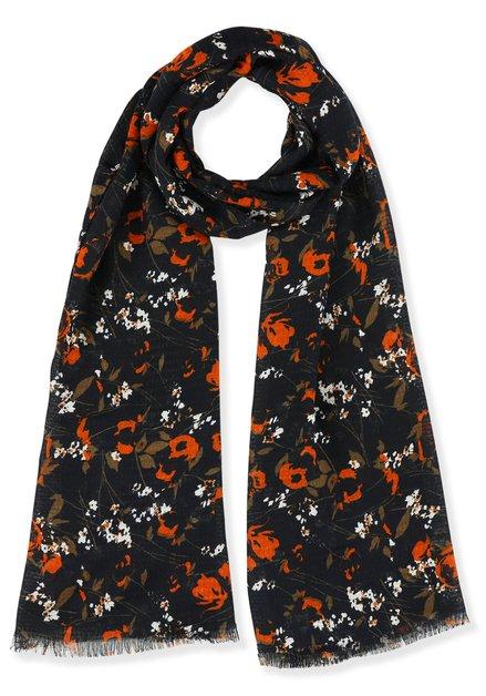 Foulard met  oranje bloemen