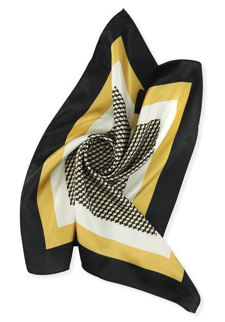 Foulard met zwart-gele geometrische print