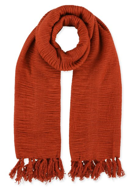 Foulard orange structuré