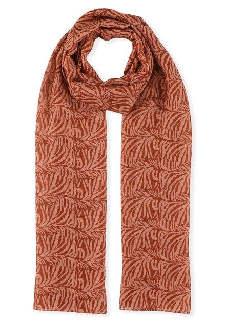 Foulard rouge brique avec imprimé abstrait