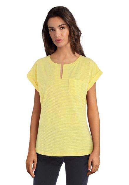 Geel katoenen T-shirt