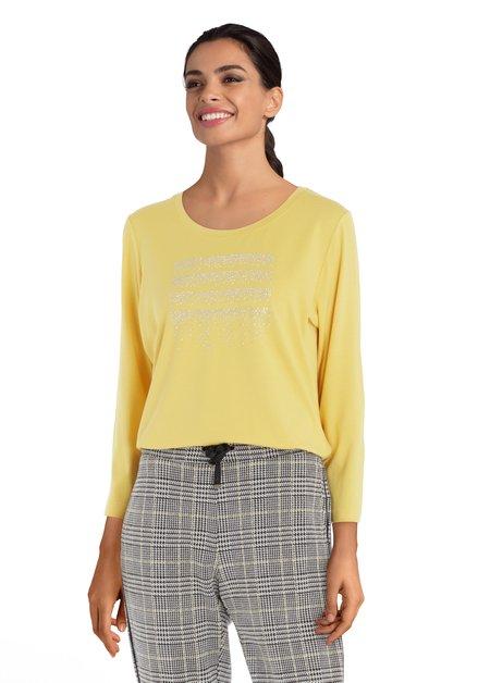 Geel T-shirt met strass