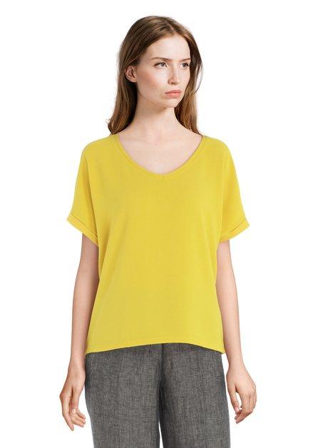Geel T-shirt met V-hals