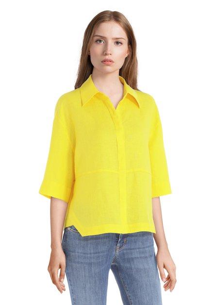 Gele blouse met halflange mouwen