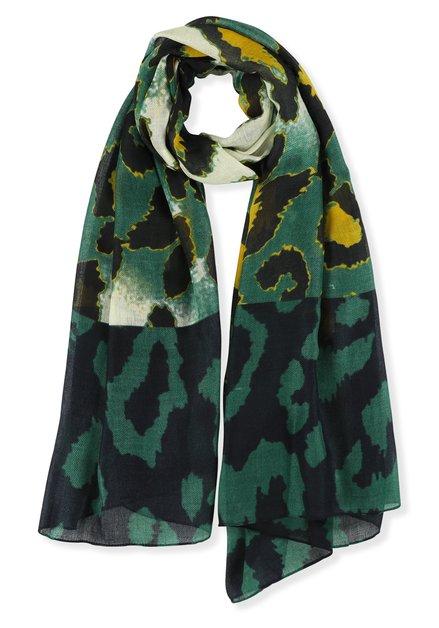 Gele en groene foulard