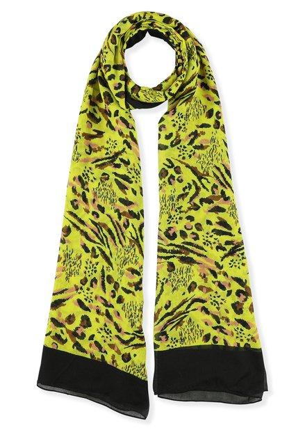 Gele foulard met dierenprint
