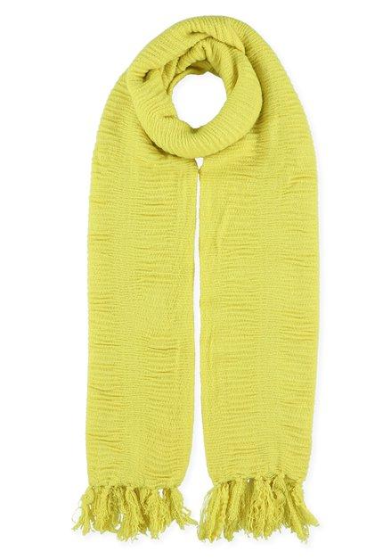 Gele foulard met structuur