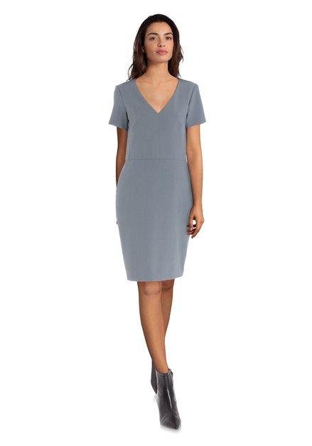 Getailleerd grijsblauw kleed