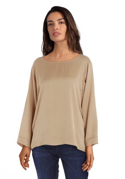 Goudkleurige zijdeachtige blouse