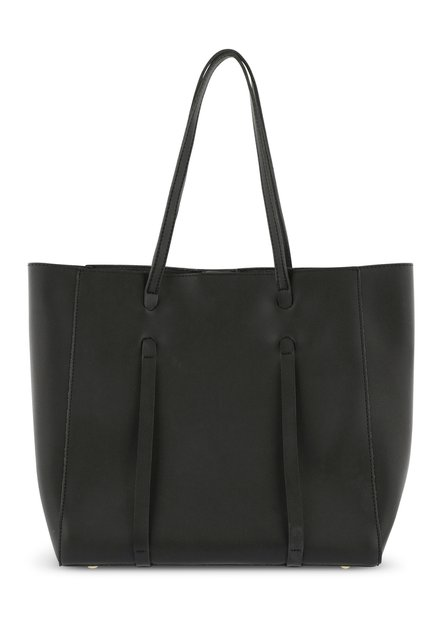 Grand sac à main noir avec pochette
