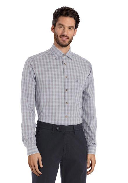 Grijs geruit hemd - regular fit