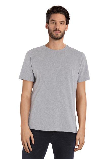 Grijs gespikkeld T-shirt met ronde hals