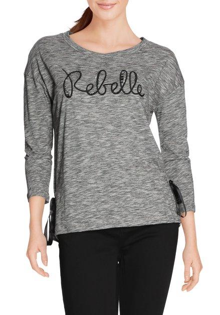 Grijs gestreept 'Rebelle' T-shirt