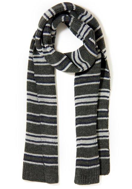 Grijs gestreepte sjaal