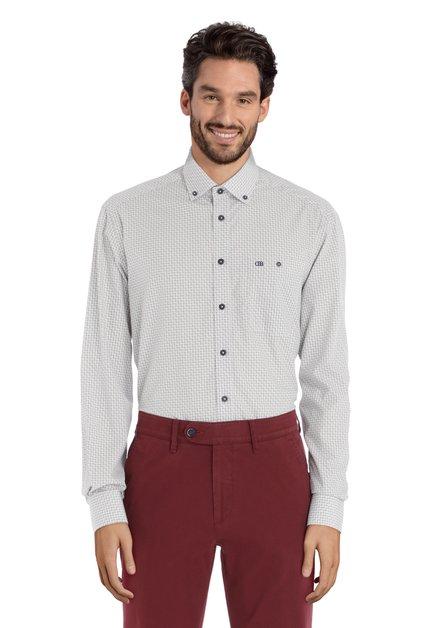 Grijs hemd met streepjes - comfort fit