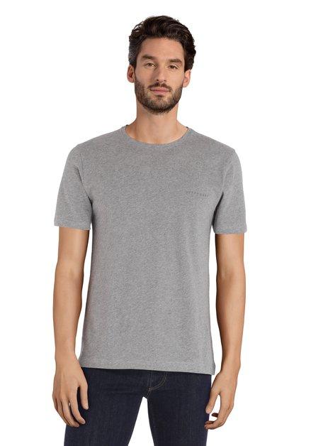 Grijs katoenen T-shirt met ronde hals