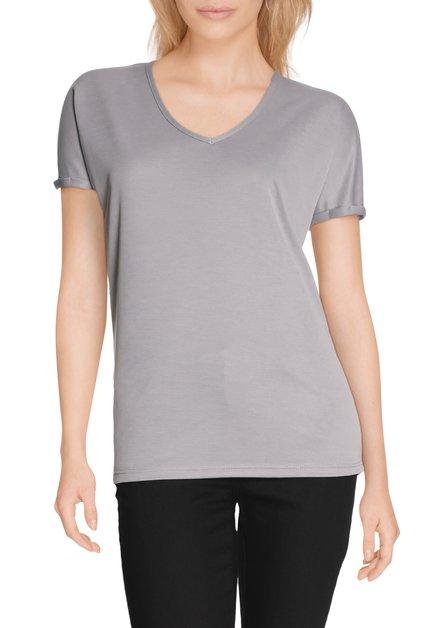 Grijs T-shirt met v-hals in modal