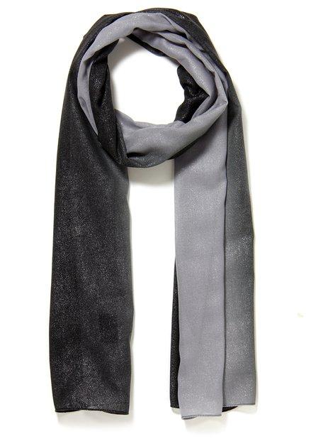 Grijs-zwarte sjaal met strass